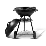 Charcoal BBQ Smoker Drill Outdoor Camping Patio Wood Barbeque Steel Oven