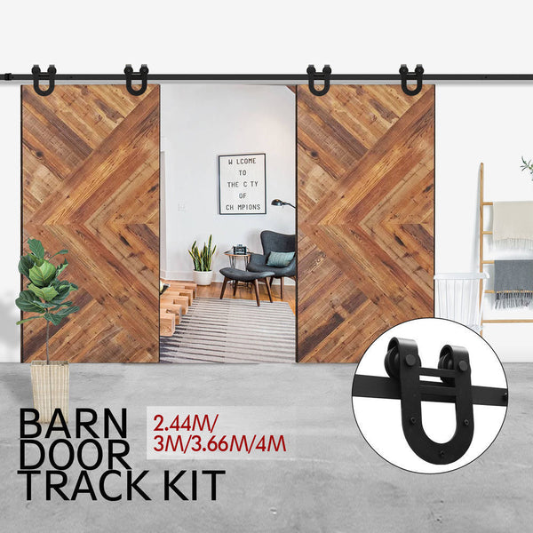 Antique Classic Sliding Double Barn Door Track Kit