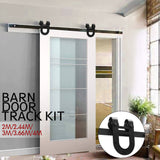Antique Classic Sliding Single Barn Door Track Kit