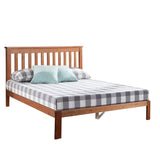 Solid Wood Platform Bed Frame with Headboard King Single