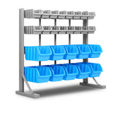 26 Storage Bin Rack With Magnetic Tool Bar