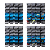 96 Storage Bin Rack Wall-Mounted Tool Parts Garage Shelving Organiser