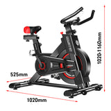 Powertrain-Heavy-Flywheel-Exercise-Spin-Bike---Black-KLK-bke-d20-bk-afterpay-zippay-oxipay