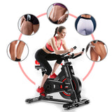 Powertrain Heavy Flywheel Exercise Spin Bike - Black