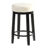 2pcs PU Leather Swivel Bar Stool in Cream 65CM Height
