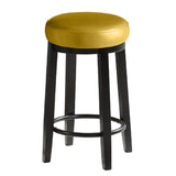 2pcs PU Leather Swivel Bar Stool in Citrine 65CM Height