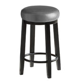 2pcs PU Leather Swivel Bar Stool in Shadow Grey 75CM Height