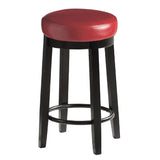 2pcs PU Leather Swivel Bar Stool in Red 75CM Height