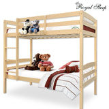 Bunk Beds Single Solid Pine Children Wooden Bed Kids Bedroom Furniture Beige