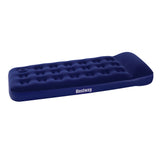 Bestway Single Inflatable Air Mattress Bed w/ Built-in Foot Pump Blue
