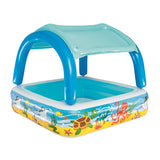 Inflatable Kids Pool Canopy Play Pool Swimming Pool Family Pools