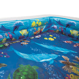 Inflatable Kids Pool Ground Play Pool 3D Undersea Aquarium outdoor