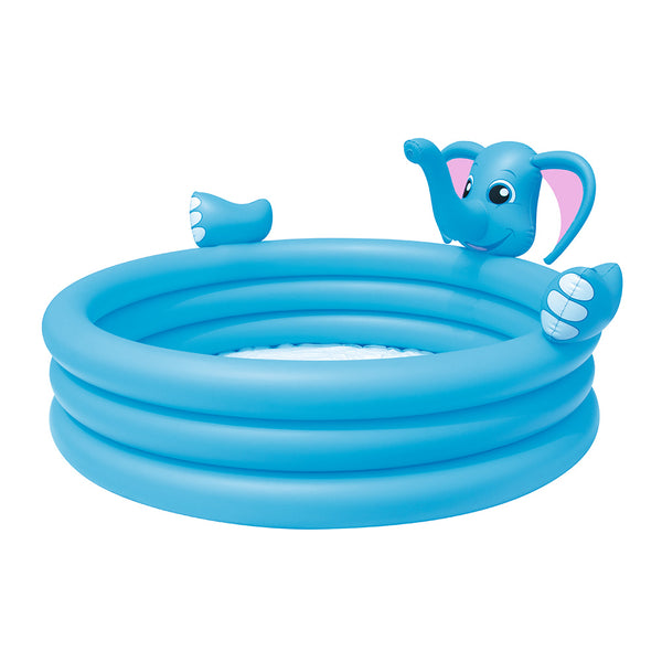 Inflatable Kids Play Pool 3 Ring Elephant Spray Splash Pools Game Toy