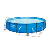 Above Ground Swimming Pool Steel Pro Frame Filter Pump 15ft