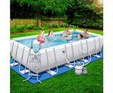Rectangular Frame Power Steel Above Ground Swimming Pool