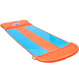 Triple Water Slip And Slide Kids Inflatable Splash Toy Outdoor 5.49M
