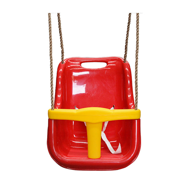 Baby Swing Seat Red with Rope Extensions