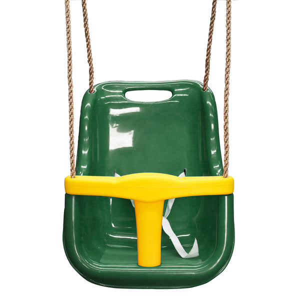 Baby Swing Seat Green with Rope Extensions