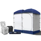 20L Outdoor Double Toilet Camping Shower Tent Pop Up Change Room