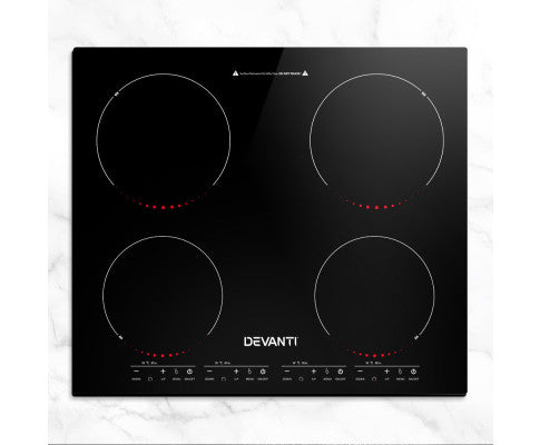 Induction Cooktop 60cm Electric Ceramic Cooker 4 Burner Stove