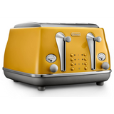 Delonghi Icona Capitals 4 Slice Toaster New York Yellow CTOC4003Y