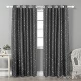 2 Star Blockout 240x230cm Blackout Curtains - Grey