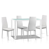 5-Piece Dining Table Set - White