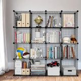 16-Cube-Metal-Wire-Storage-Cabinet---Black-DIY-B-MESH-16-BK-afterpay-zippay-oxipay