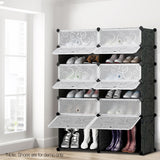 12-Shoe-Stackable-Compartments-Black-and-White-DIY-B-SHOE-12MIX-BK-afterpay-zippay