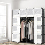 16-Stackable-Cube-Storage-Cabinet-Black-and-White-DIY-B-STORAGE-16-BK-afterpay-zippay