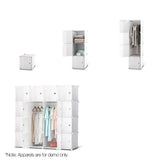 16 Stackable Cube Storage Cabinet White