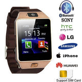 Bluetooth Smart Watch Phone with GSM SIM For Android iPhone and Samsung - Gold Finish