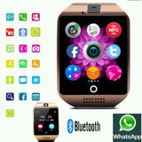 Curved Smartwatch Bluetooth phone for iOS, Android, with Camera and Health Tracker