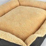 Deluxe Soft Washable Dog Cat Pet Warm Basket Bed BROWN XL