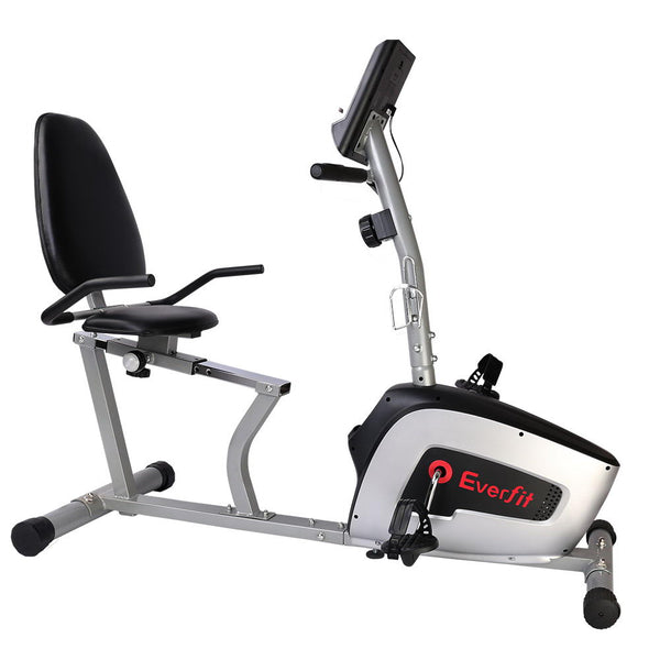 Magnetic Recumbent Exercise Bike Cycle Trainer Bicycle Home Gym Fitness