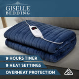 Bedding Electric Throw Blanket - Navy