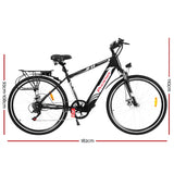 "27"" Electric Bike eBike e-Bike Mountain Bicycle City Battery Motorized Black"