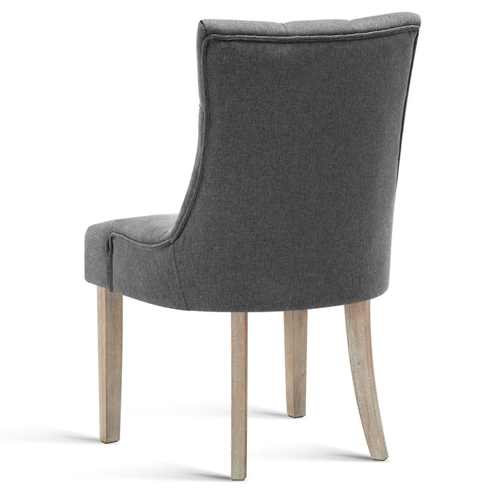 French Provincial Dining Chair - Grey