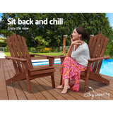 Outdoor Furniture Beach Chair Wooden Adirondack Patio Lounge Garden