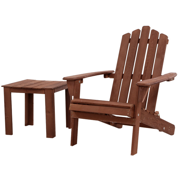 Outdoor Folding Beach Camping Chairs Table Set Wooden Adirondack Lounge