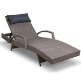 Outdoor Sun Lounge Furniture Day Bed Wicker Pillow Sofa Set