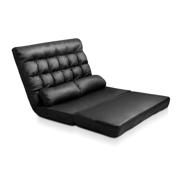 2 - seater Adjustable Lounge Sofa - Black