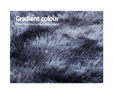 Gradient Shaggy Rug 160x230cm Carpet Area Rugs Dark Grey