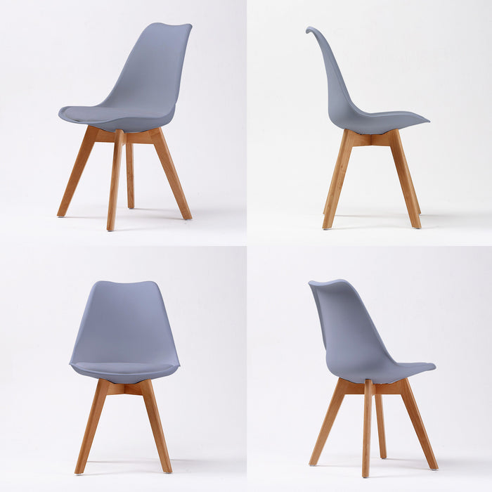 Replica PU Padded Dining Chair - GREY X2