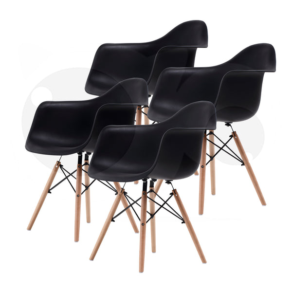 Replica Eames DAW Armchair - BLACK X4