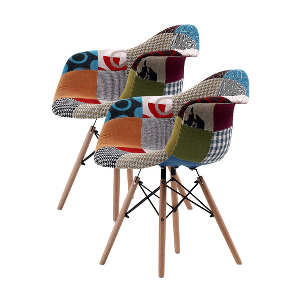 Replica Eames DAW Armchair - MULTI-COLOUR X2