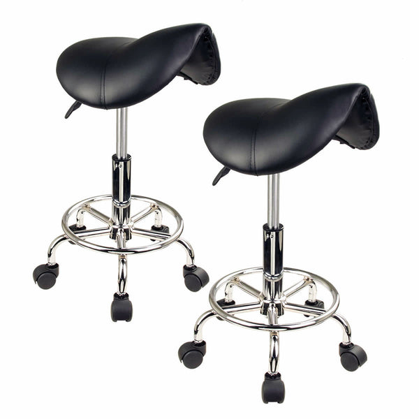 Saddle Salon Stool - BLACK X2