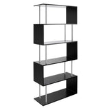5 Tier Display/Book/Storage Shelf Unit Black