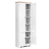 1.8m Tall Six-Tier Pantry Cupboard White