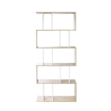 5 Tier Display/Book/Storage Shelf Unit White Brown